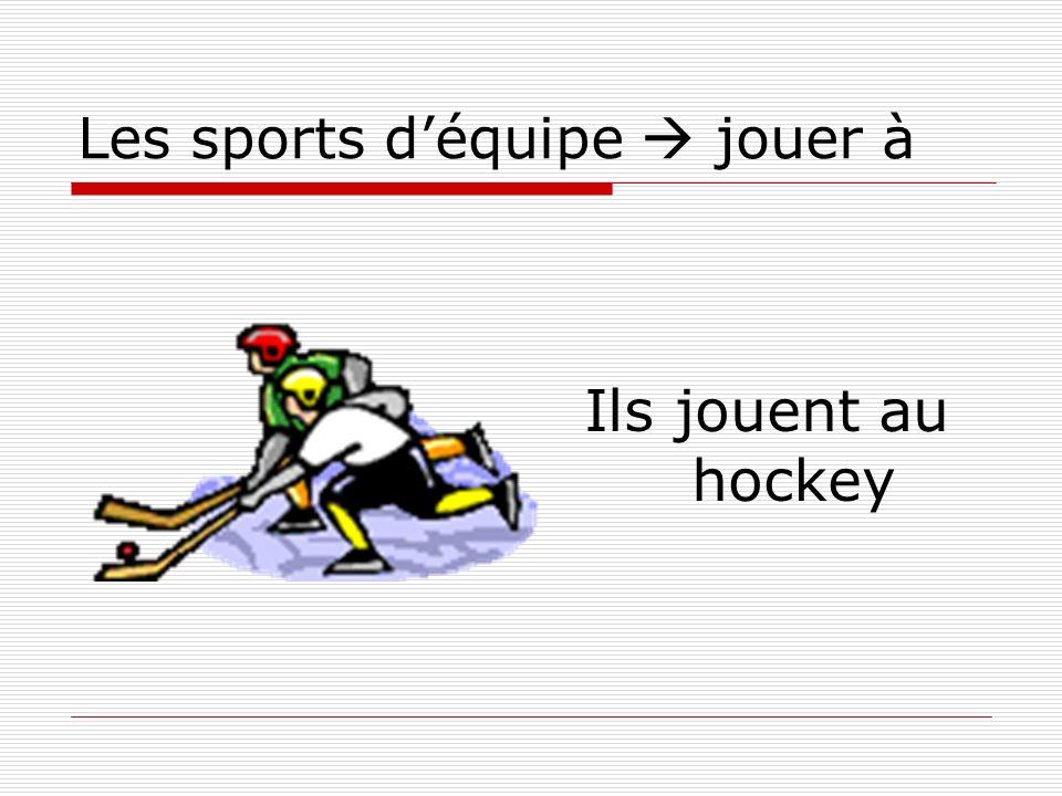 Les sports déquipe jouer à Ils jouent au hockey