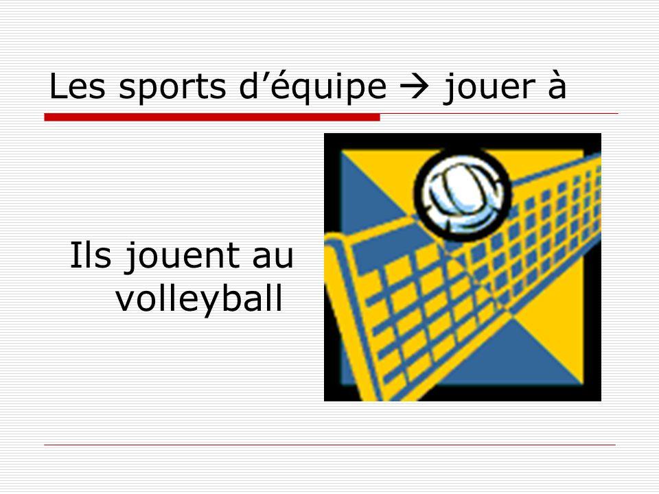 Les sports déquipe jouer à Ils jouent au volleyball