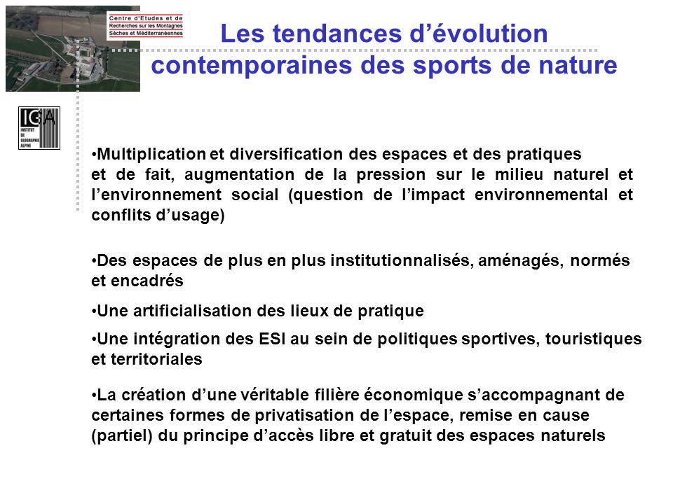 Multiplication et diversification des espaces et des pratiques et de fait, augmentation de la pression sur le milieu naturel et lenvironnement social