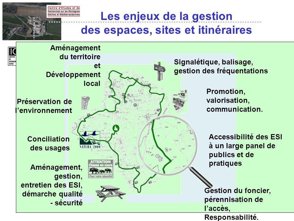 Aménagement du territoire et Développement local Préservation de lenvironnement Conciliation des usages Aménagement, gestion, entretien des ESI, démar