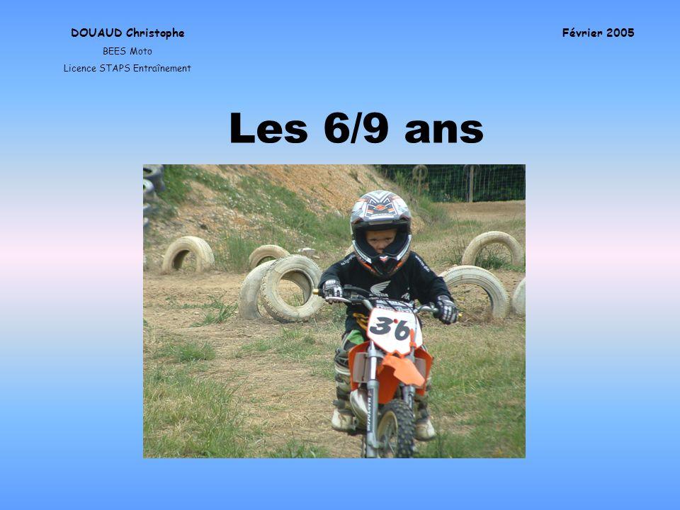Les 6/9 ans DOUAUD Christophe BEES Moto Licence STAPS Entraînement Février 2005