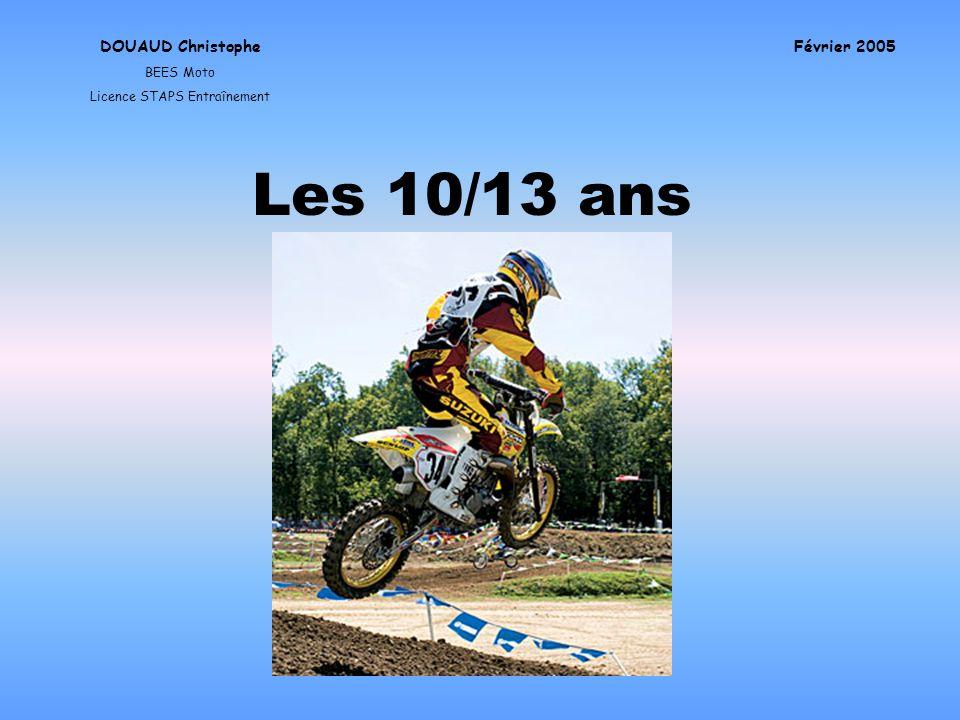 Les 10/13 ans DOUAUD Christophe BEES Moto Licence STAPS Entraînement Février 2005