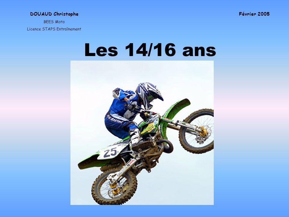 Les 14/16 ans DOUAUD Christophe BEES Moto Licence STAPS Entraînement Février 2005