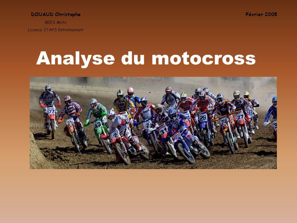 Février 2005 Source: MX trainer Les 10 blessures les plus fréquentes en MX DOUAUD Christophe BEES Moto Licence STAPS Entraînement