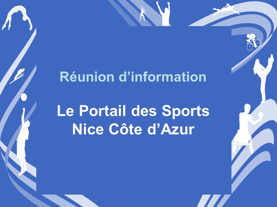 Réunion dinformation Le Portail des Sports Nice Côte dAzur