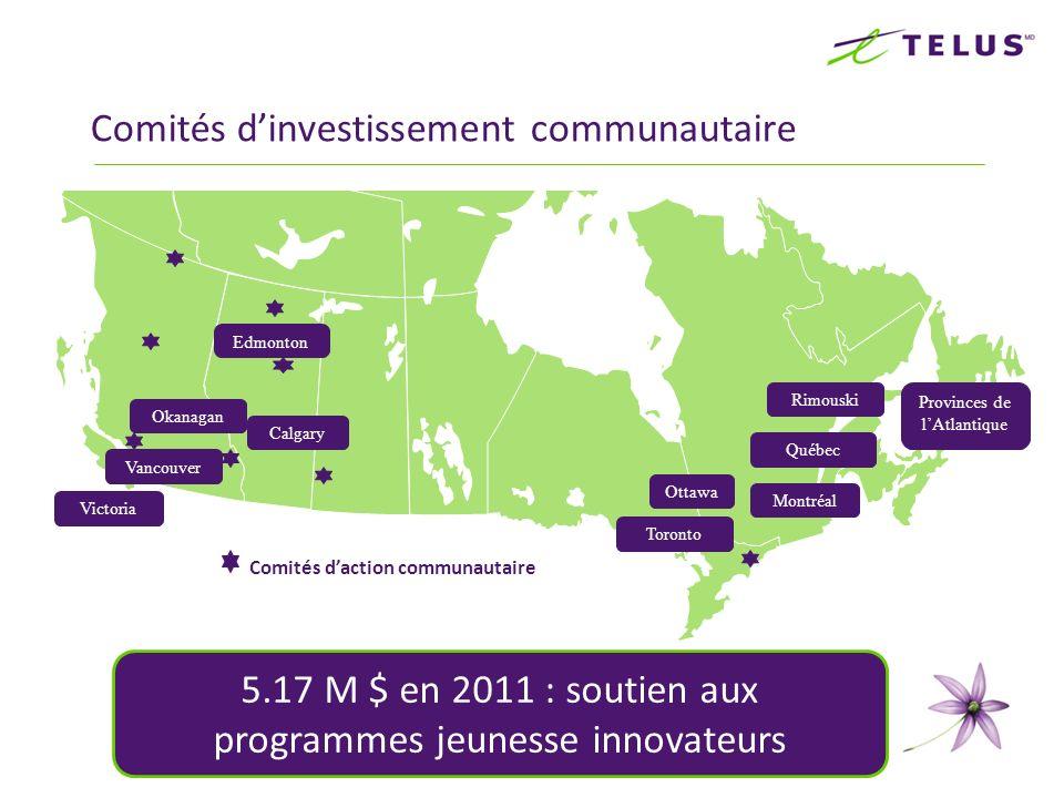 Comités dinvestissement communautaire MAP Victoria Vancouver Toronto Ottawa Montréal Rimouski Edmonton Calgary Provinces de lAtlantique Comités dactio