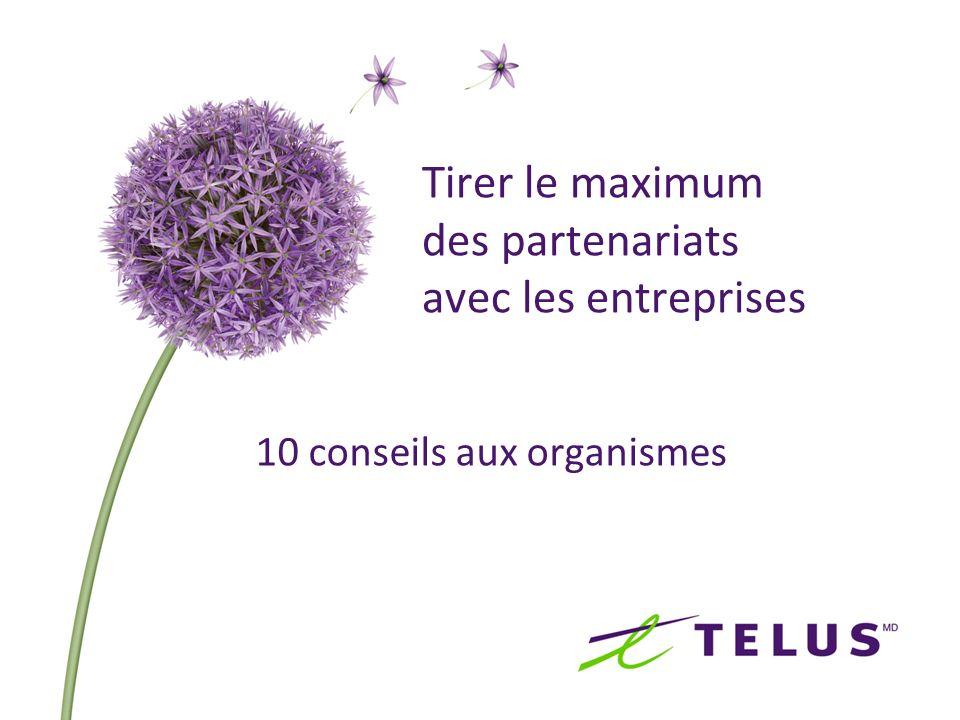 Tirer le maximum des partenariats avec les entreprises 10 conseils aux organismes