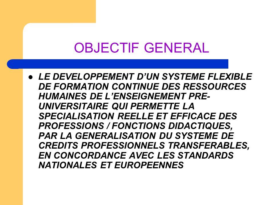 LE DEVELOPPEMENT DUN SYSTEME FLEXIBLE DE FORMATION CONTINUE DES RESSOURCES HUMAINES DE LENSEIGNEMENT PRE- UNIVERSITAIRE QUI PERMETTE LA SPECIALISATION