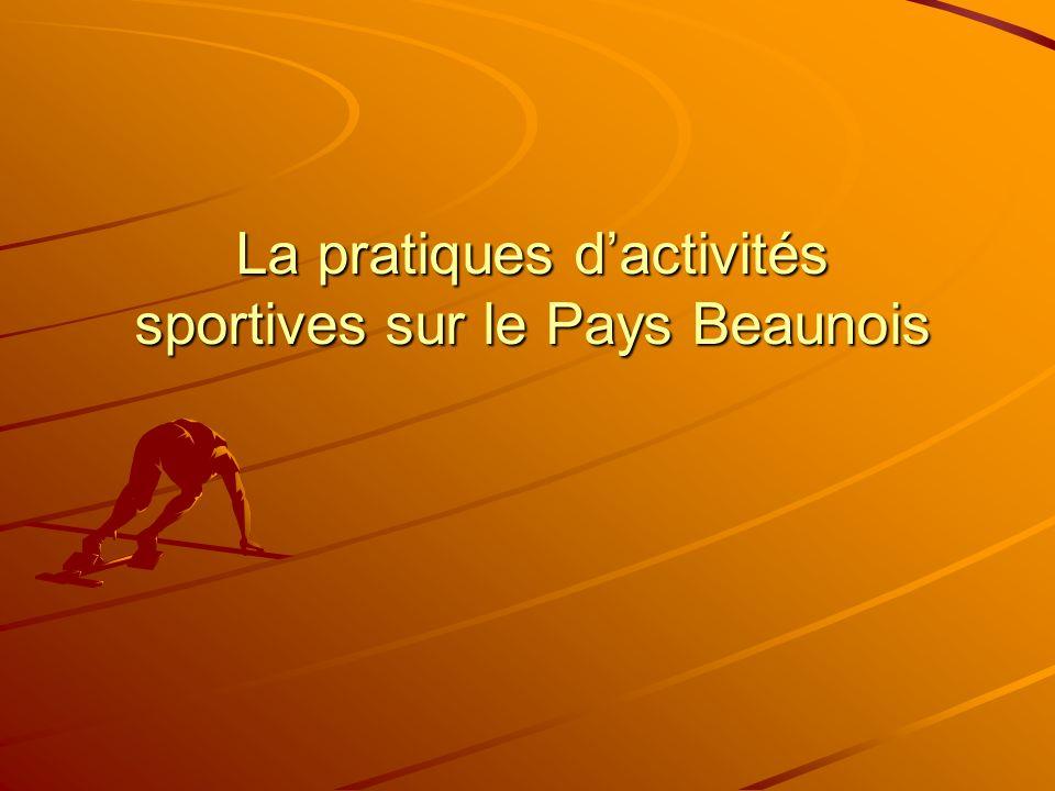 La pratiques dactivités sportives sur le Pays Beaunois