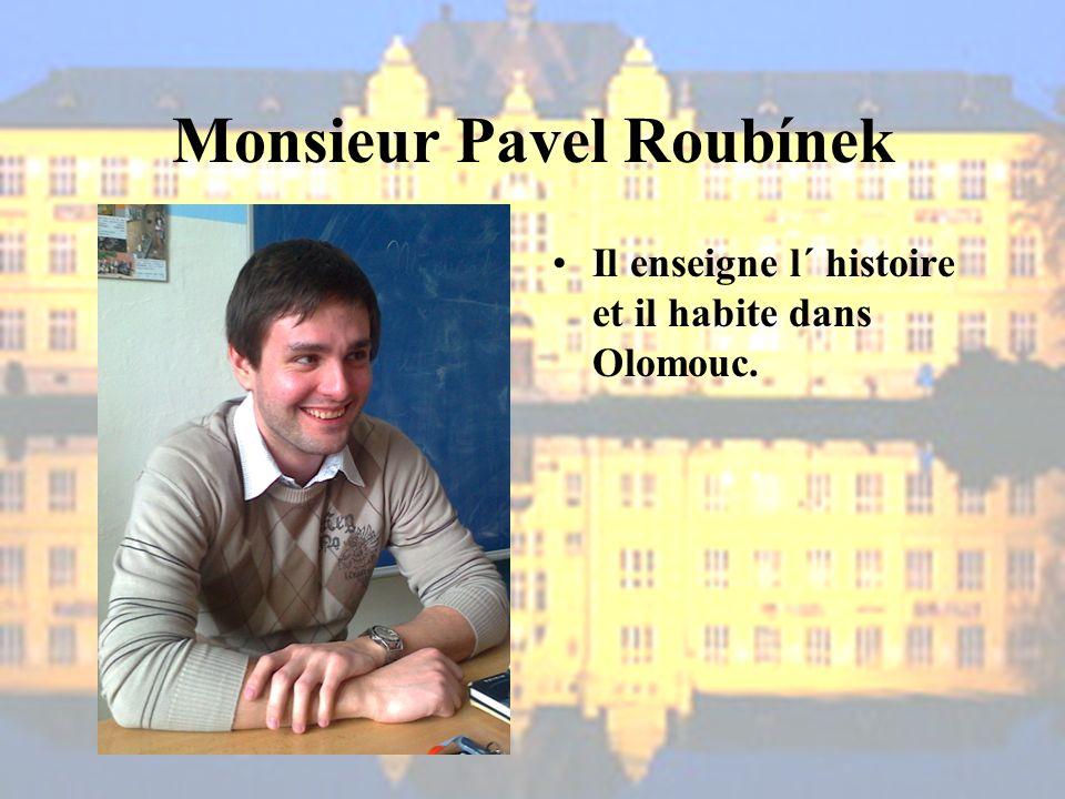 Monsieur Pavel Roubínek Il enseigne l´ histoire et il habite dans Olomouc.
