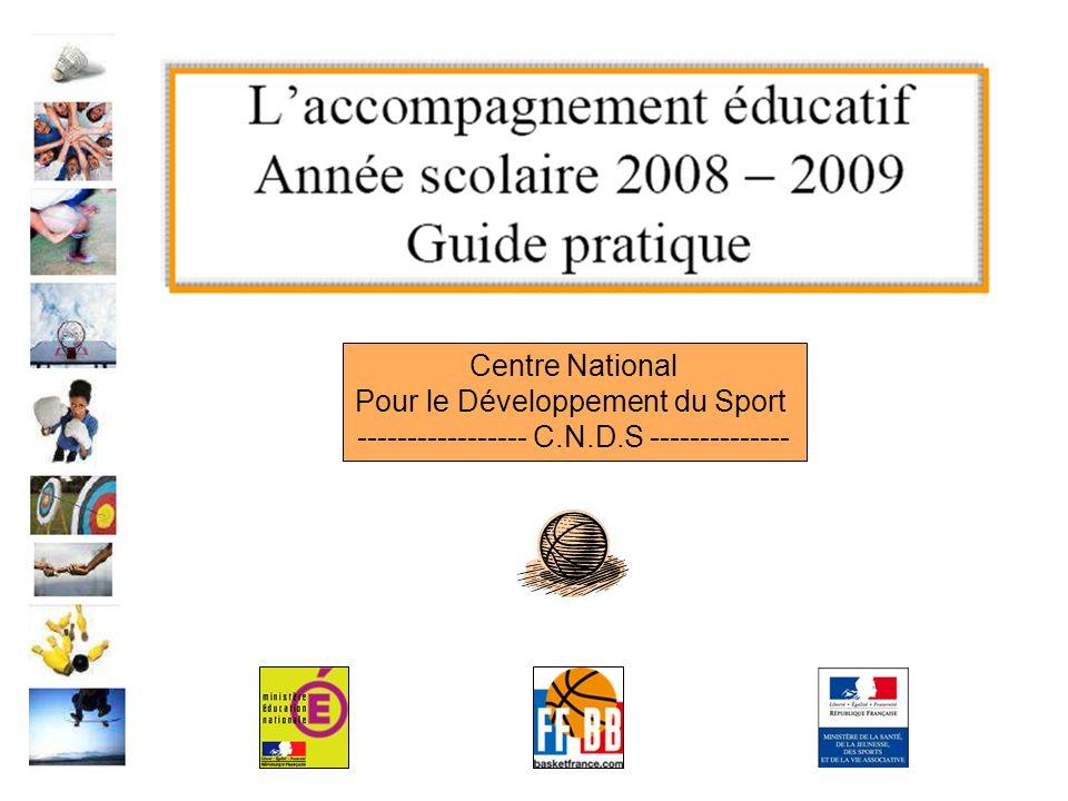 Centre National Pour le Développement du Sport ----------------- C.N.D.S --------------