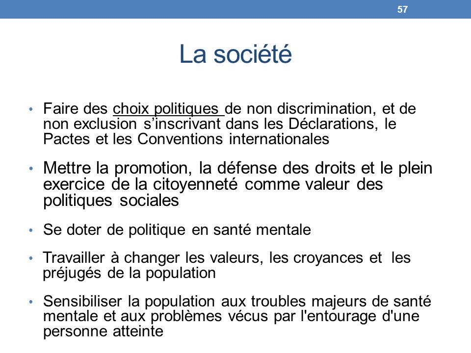 La société Faire des choix politiques de non discrimination, et de non exclusion sinscrivant dans les Déclarations, le Pactes et les Conventions inter