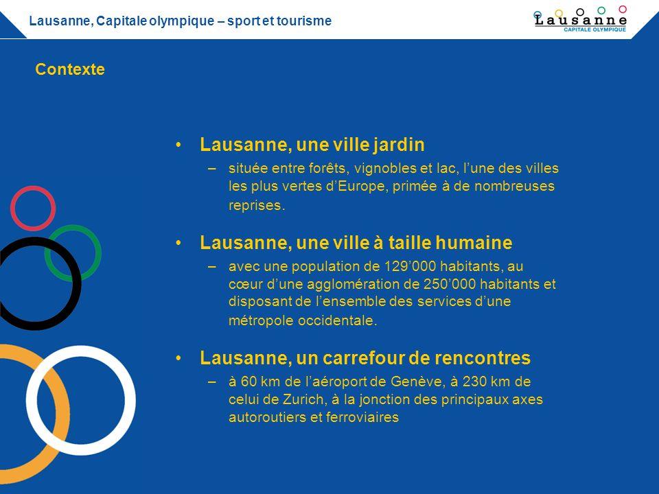 Lausanne, Capitale olympique – sport et tourisme Lausanne, une ville de tourisme et de congrès –disposant dun réseau de transport efficient, dinstallations adaptées et de professionnels de haut niveau.
