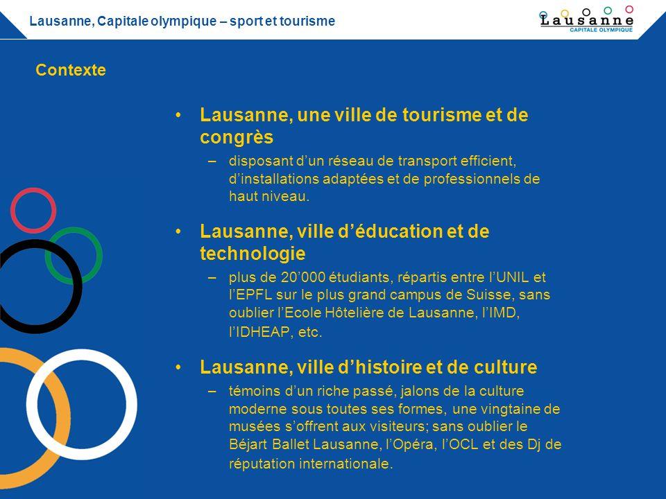 Lausanne, Capitale olympique – sport et tourisme Lausanne, Capitale olympique –siège du Comité international olympique depuis 1915.