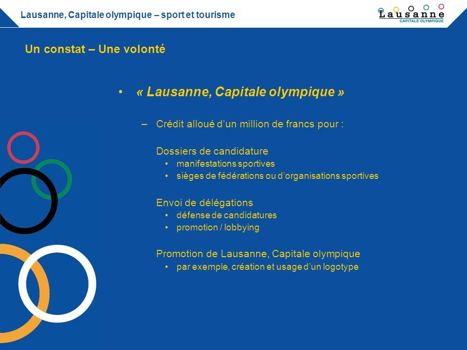 Lausanne, Capitale olympique – sport et tourisme Conditions et contreparties –Lausanne doit être associée dans le processus de dépôt de la candidature, de même que les organes cantonaux voire fédéraux concernés.