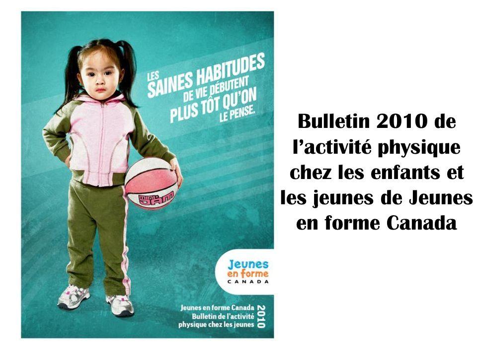 Bulletin 2010 de lactivité physique chez les enfants et les jeunes de Jeunes en forme Canada
