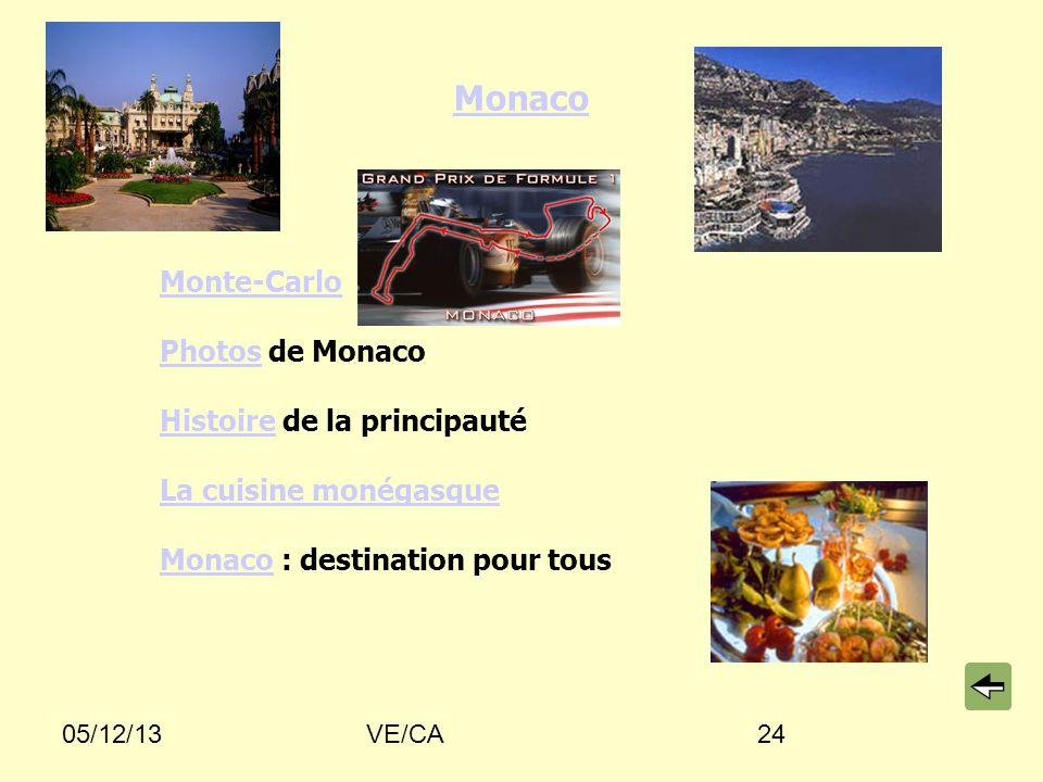 05/12/13VE/CA24 Monaco Monte-Carlo PhotosPhotos de Monaco HistoireHistoire de la principauté La cuisine monégasque MonacoMonaco : destination pour tous