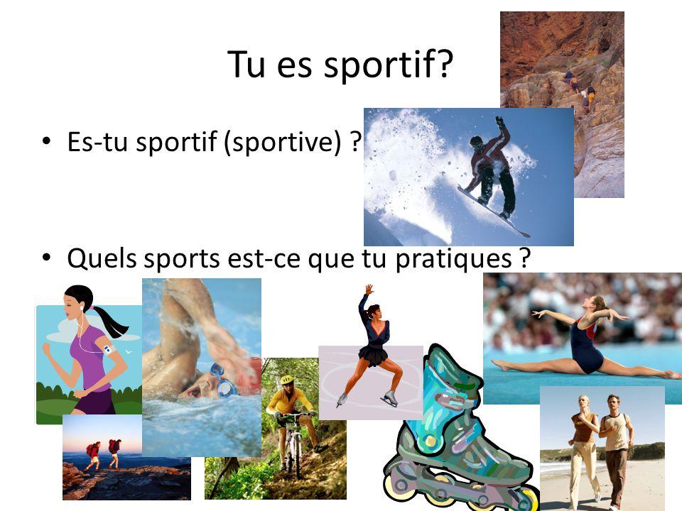 Les sports sans équipement Le jogging La natation La marche à pied La gymnastique