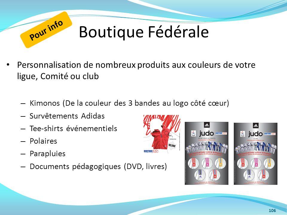 Boutique Fédérale Personnalisation de nombreux produits aux couleurs de votre ligue, Comité ou club – Kimonos (De la couleur des 3 bandes au logo côté