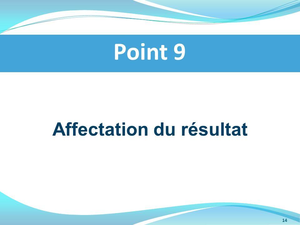 Affectation du résultat Point 9 14