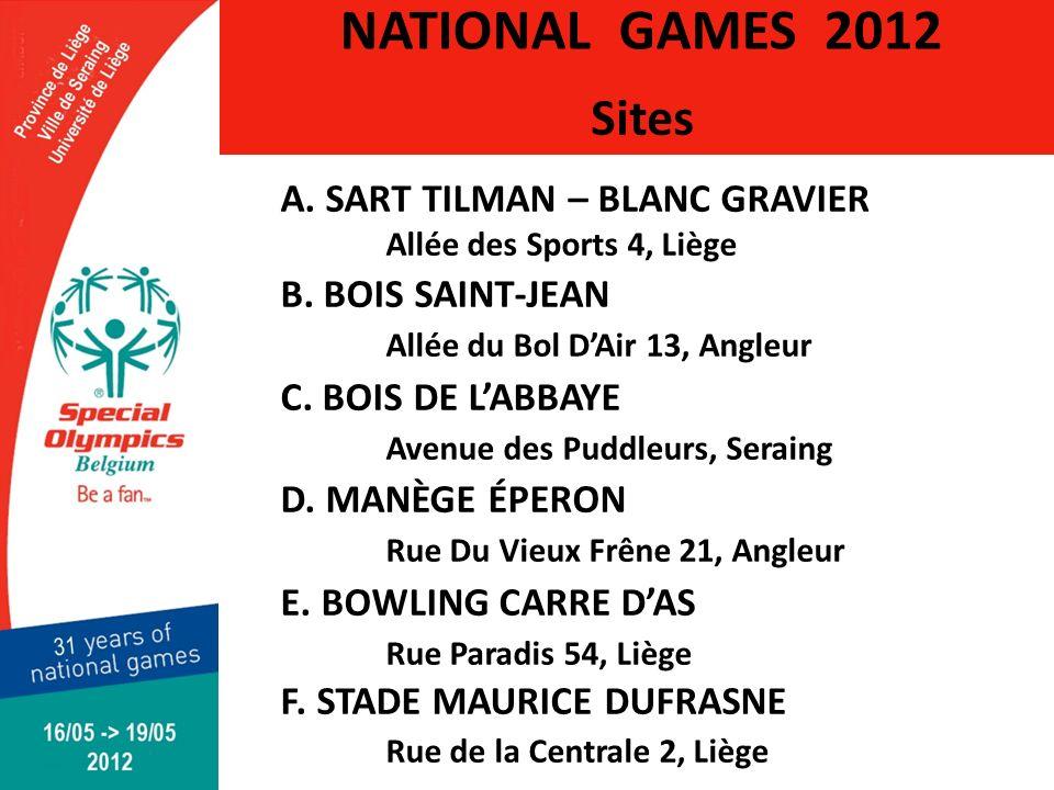 Sites A. SART TILMAN – BLANC GRAVIER Allée des Sports 4, Liège B.