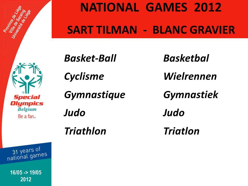 SART TILMAN - BLANC GRAVIER Basket-BallBasketbal CyclismeWielrennen GymnastiqueGymnastiekJudo TriathlonTriatlon NATIONAL GAMES 2012