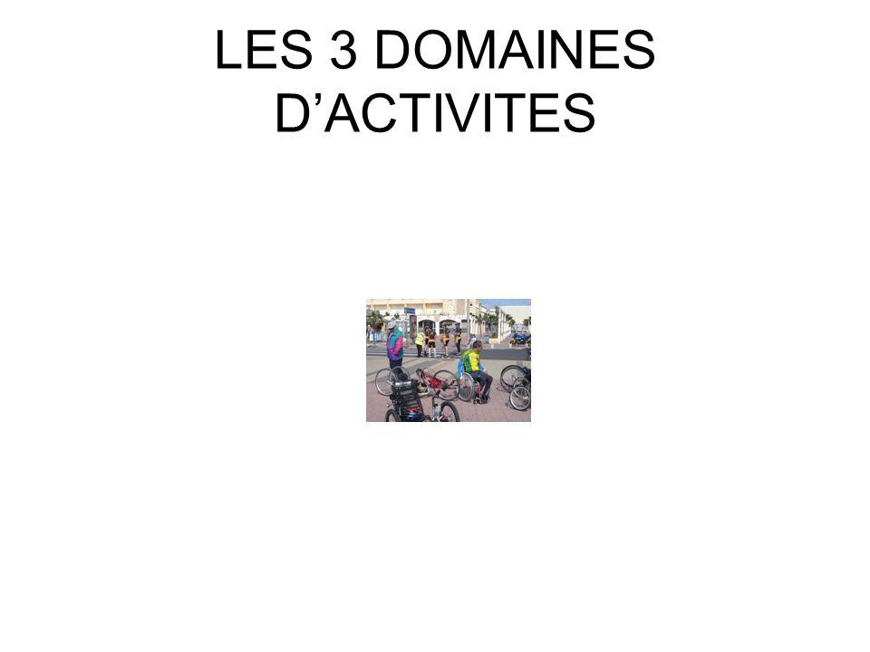 LES 3 DOMAINES DACTIVITES