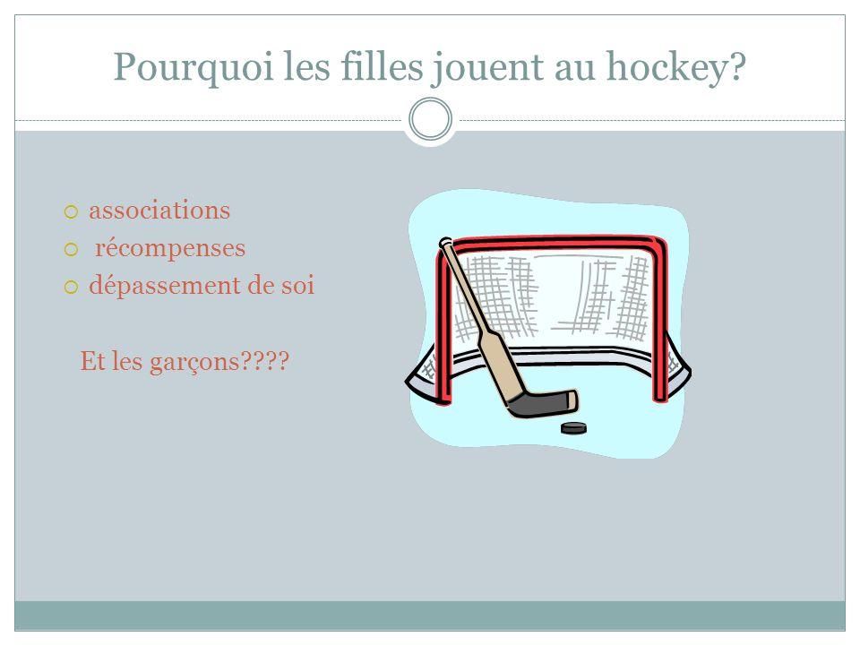 Pourquoi les filles jouent au hockey.
