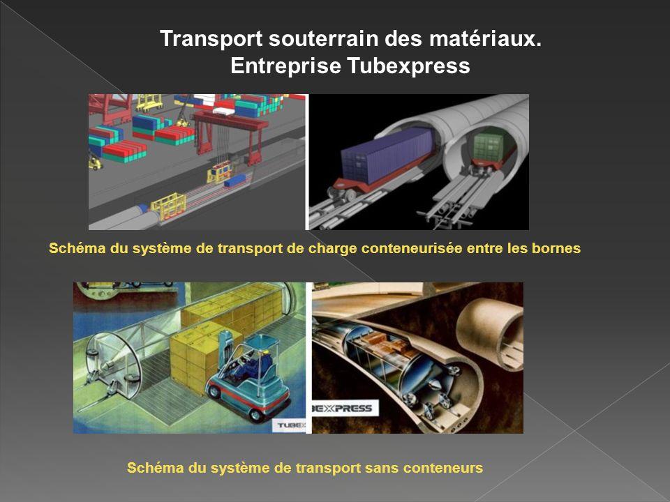 Transport souterrain des matériaux.