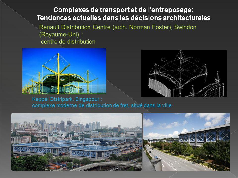 Keppe l Distripark, Singapour : complexe moderne de distribution de fret, situé dans la ville Complexes de transport et de l entreposage: Tendances actuelles dans les décisions architecturales