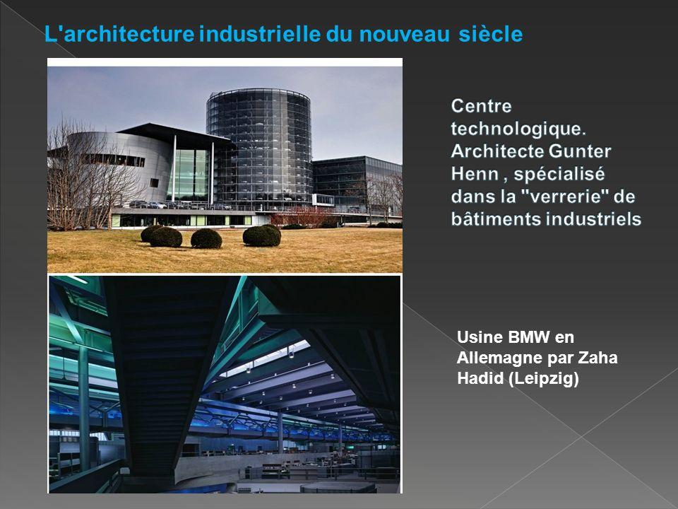Usine BMW en Allemagne par Zaha Hadid (Leipzig) L architecture industrielle du nouveau siècle