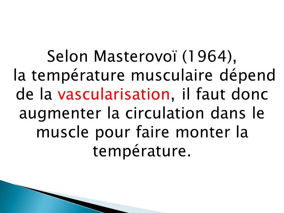 Masterovoï constate que seules des contractions musculaires sont en mesure de faire jouer au muscle le rôle de pompe par une contraction qui chasse le sang et un relâchement marqué.