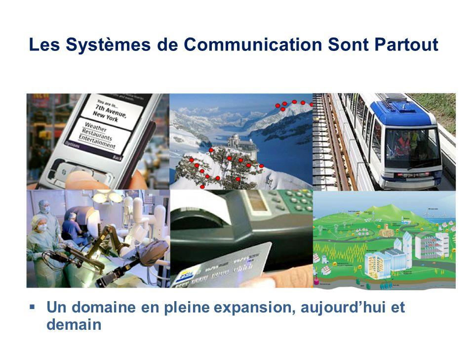 Les Systèmes de Communication Sont Partout Un domaine en pleine expansion, aujourdhui et demain