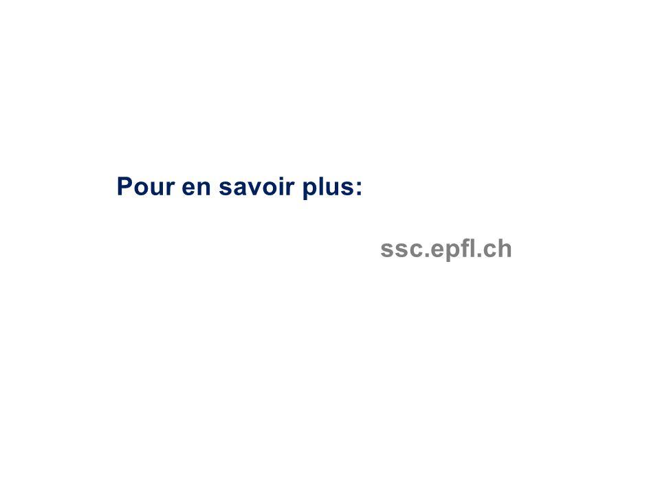 Pour en savoir plus: ssc.epfl.ch