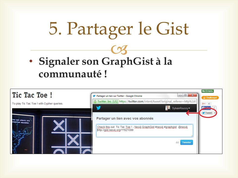 Signaler son GraphGist à la communauté ! 5. Partager le Gist