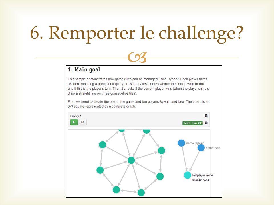 6. Remporter le challenge