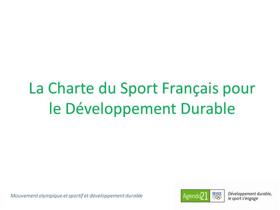 La Charte du Sport Français pour le Développement Durable