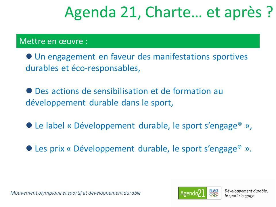 Agenda 21, Charte… et après ? Mettre en œuvre : Un engagement en faveur des manifestations sportives durables et éco-responsables, Des actions de sens