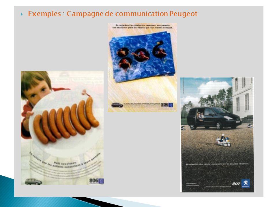 Exemples : Campagne de communication Peugeot