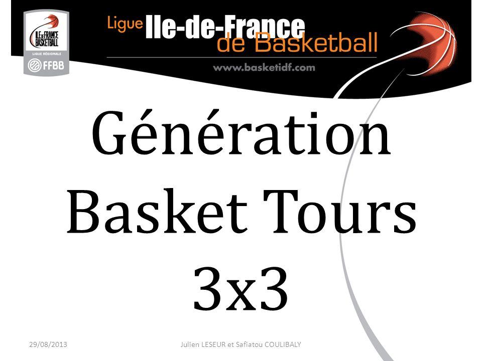 Génération Basket Tours 3x3 29/08/2013Julien LESEUR et Safiatou COULIBALY