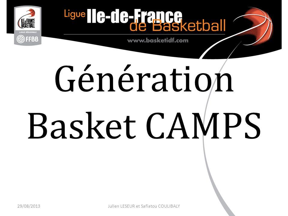 Génération Basket CAMPS 29/08/2013Julien LESEUR et Safiatou COULIBALY
