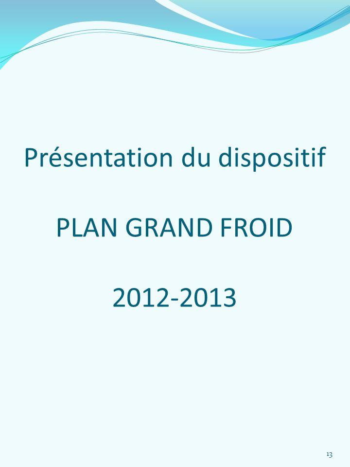 Présentation du dispositif PLAN GRAND FROID 2012-2013 13