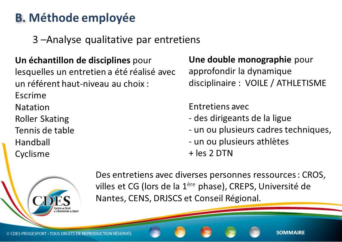 ETAT des lieux A.Présentation générale du sport de haut niveau en Pays de la Loire B.La politique actuelle de soutien du CR-PdlL au sport de haut niveau C.Mise en perspective de la politique régionale daides aux athlètes et aux structures