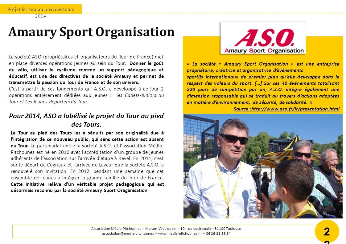 Projet le Tour au pied des tours 2014 Association Média-Pitchounes – Maison Vestrepain – 10, rue vestrepain – 31100 Toulouse association@media-pitchou