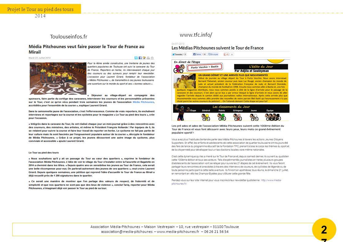 BUDGET PREVISIONNEL - TOUR AU PIED DES TOURS 2014 Le Tour au Pied des Tours 2014 – 5 ème édition Association média-Pitchounes – association@media-pitchounes.fr ww.media-pitchounes.fr 28 DEPENSES PROJET GLOBAL 601 ACHATS STOCKÉS - MATIÈRES ET FOURNITURES1900,00 Matériel activités journalistiques800,00 Équipements séjours500,00 Matériel ateliers médias600,00 606 ACHATS NON STOCKÉS DE MATIÈRES ET FOURNITURES1600,00 6064 Fournitures administratives200,00 6068 Autres matières et fournitures1000,00 6069 Encres, matériel informatique400,00 607 ACHATS DE MARCHANDISES9500,00 6071 Edition Magazine7000,00 6073 Achats T-shirts et autres textiles2500,00 615 ENTRETIENS ET RÉPARATIONS150,00 6157 Entretiens véhicule150,00 621 PERSONNELS EXTÉRIEURS À L ASSOCIATION500,00 621003 Activités associatives500,00 623 PUBLICITÉ, PUBLICATIONS, RELATIONS PUBLIQUES250,00 6233 Foires et expositions50,00 6236 Catalogues et imprimés200,00 625 DÉPLACEMENTS, MISSIONS ET RÉCEPTIONS23250,00 625000 Transferts groupes SNCF3600,00 625001 Transferts France/Angleterre Aller/retour1600,00 625003 Frais autoroutiers400,00 625004 Carburant1150,00 625300 Hébergement séjours7000,00 625301 Nourriture séjours4500,00 625302 Rassemblement Jeunes vacances scolaires Toulouse5000,00 626 FRAIS POSTAUX ET FRAIS DE TÉLÉCOMMUNICATIONS350,00 Service postal200,00 Abonnement téléphone / internet150,00 641 REMUNERATIONS DE PERSONNEL COORDINATION15000,00 Salaires9552,00 Charges sociales5448,00 671 CHARGES EXCEPTIONNELLES SUR OPÉRATIONS DE GESTION200,00 6718 Charges exceptionnelles sur opération de gestion200,00 DÉPENSES52 700,00 RECETTES PROJET GLOBAL 70 PARTENARIATS PRIVÉS20 000,00 Fondation Française des Jeux10000,00 Fondation LCL10000,00 70 PRODUITS DES ACTIVITÉS ANNEXES300,00 7088 Autres produits d activités annexes300,00 74 SUBVENTION D EXPLOITATION18000,00 741 Mairie de Toulouse5000,00 Conseil Général Haute-Garonne3000,00 Conseil Régional Midi-Pyrénées5000,00 741 Préfecture Haute Garonne4000,00 741 Dispositif VVV / ACSE10