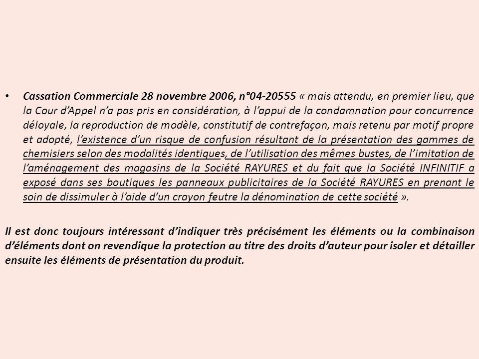 Cassation Commerciale 28 novembre 2006, n°04-20555 « mais attendu, en premier lieu, que la Cour dAppel na pas pris en considération, à lappui de la co