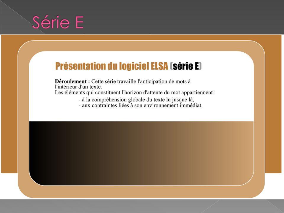 Présentation série E au vidéo projecteur