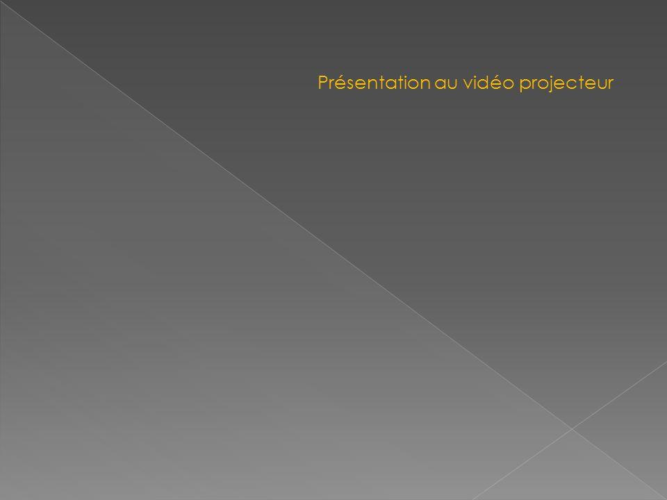 Présentation au vidéo projecteur