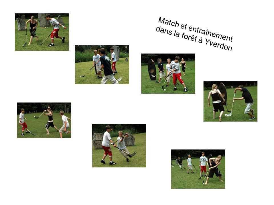 Match et entraînement dans la forêt à Yverdon