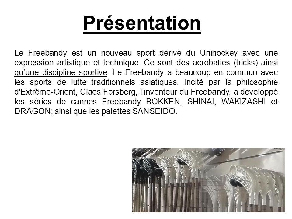Présentation Le Freebandy est un nouveau sport dérivé du Unihockey avec une expression artistique et technique.